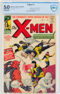 Silver Age (1956-1969):Superhero, X-Men #1 UK Edition (Marvel, 1963) CBCS VG/FN 5.0 Off-white to white pages....