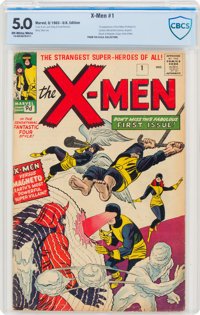 X-Men #1 UK Edition (Marvel, 1963) CBCS VG/FN 5.0 Off-white to white pages