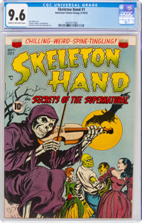 Skeleton Hand #1 (ACG, 1952) CGC NM+ 9.6 Cream to off-white pages