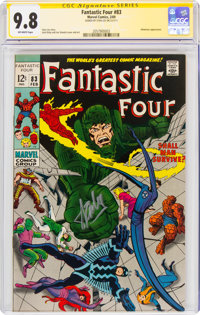 Fantastic Four #83 Signature Series - Stan Lee (Marvel, 1969) CGC NM/MT 9.8 Off-white pages