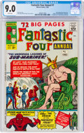 Silver Age (1956-1969):Superhero, Fantastic Four Annual #1 (Marvel, 1963) CGC VF/NM 9.0 White pages....