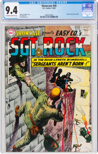 Showcase #45 Sgt. Rock (DC, 1963) CGC NM 9.4 Off-white to white pages