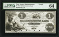 Hackettstown, NJ- Hackettstown Bank $1 18__ G2 Proof PMG Choice Uncirculated 64, 4 POCs