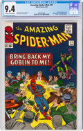 Silver Age (1956-1969):Superhero, The Amazing Spider-Man #27 (Marvel, 1965) CGC NM 9.4 Off-white to white pages....
