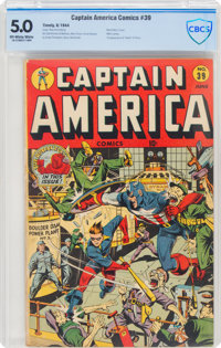 Captain America Comics #39 (Timely, 1944) CBCS VG/FN 5.0 Off-white to white pages