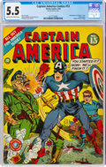 Golden Age (1938-1955):Superhero, Captain America Comics #13 (Timely, 1942) CGC FN- 5.5 Cream to off-white pages....