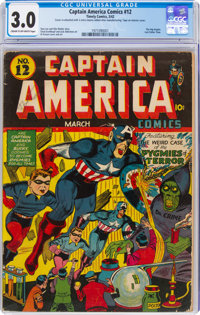 Captain America Comics #12 (Timely, 1942) CGC GD/VG 3.0 Cream to off-white pages