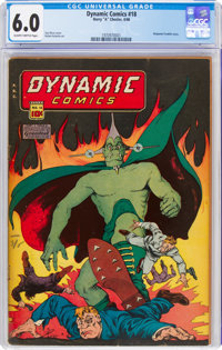 Dynamic Comics #18 (Chesler, 1946) CGC FN 6.0 Slightly brittle pages