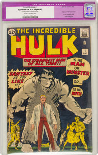 The Incredible Hulk #1 (Marvel, 1962) CGC Apparent FN 6.0 Slight (A) Cream to off-white pages