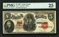 Large Size:Legal Tender Notes, Fr. 91 $5 1907 Legal Tender PMG Very Fine 25.. ...