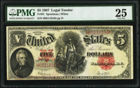 Fr. 91 $5 1907 Legal Tender PMG Very Fine 25