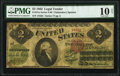 Large Size:Legal Tender Notes, Fr. 41a $2 1862 Legal Tender PMG Very Good 10 Net.. ...