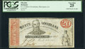 Obsoletes By State:Louisiana, Shreveport, LA- The State of Louisiana $20 Mar. 10, 1863 Cr. 13 PCGS Very Fine 25.. ...