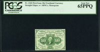Fr. 1242 10¢ First Issue PCGS Gem New 65PPQ