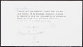 Autographs:Index Cards, Muhammad Ali Signed Paper....
