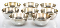 A Set of Eight Whiting Mfg. Co. Silver Bowls with Raised Rims, New York, 1909 Marks: (W-griffin), STERLING, 278, (three...