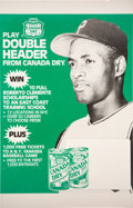 Baseball Collectibles:Others, 1980's Roberto Clemente Canada Dry Promotional Poster.