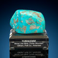 Turquoise Nugget Mona Lisa Mine (Porter Ridge Mine; McBride Mine; Blue Bird Mine; Newton Mine) Porter Mountain, Gilh...