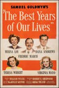 """Movie Posters:Drama, The Best Years of Our Lives (RKO, 1947). Fine/Very Fine on Linen. One Sheet (27.5"""" X 41"""") Style A. Drama.. ..."""