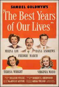 "The Best Years of Our Lives (RKO, 1947). Fine/Very Fine on Linen. One Sheet (27.5"" X 41"") Style A. Drama"