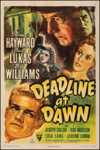 "Deadline at Dawn (RKO, 1946). Fine/Very Fine on Linen. One Sheet (27"" X 41""). Film Noir"