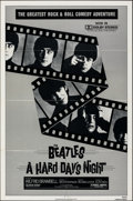 """Movie Posters:Rock and Roll, A Hard Day's Night (Universal, R-1982). Folded, Very Fine-. One Sheet (27"""" X 41"""") & Lobby Card Set of 8 (11"""" X 14""""). Rock an... (Total: 9 Items)"""