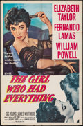 """Movie Posters:Romance, The Girl Who Had Everything (MGM, 1953). Folded, Fine+. One Sheet (27"""" X 41""""). Romance.. ..."""