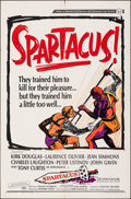 """Movie Posters:Action, Spartacus & Other Lot (Universal International, R-1967). Folded, Very Fine. One Sheets (2) (27"""" X 41""""). Action.. ... (Total: 2 Items)"""