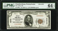 Chambersburg, PA - $5 1929 Ty. 1 The Valley National Bank Ch. # 4272 PMG Choice Uncirculated 64 EPQ