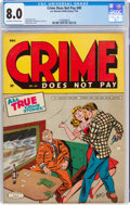 Golden Age (1938-1955):Crime, Crime Does Not Pay #40 (Lev Gleason, 1945) CGC VF 8.0 Off-white to white pages....