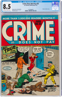 Crime Does Not Pay #52 (Lev Gleason, 1947) CGC VF+ 8.5 Off-white to white pages