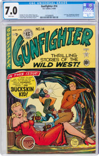 Gunfighter #14 (EC, 1950) CGC FN/VF 7.0 White pages