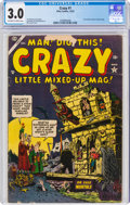 Golden Age (1938-1955):Humor, Crazy #1 (Atlas, 1953) CGC GD/VG 3.0 Off-white to white pages....