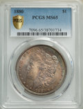 1880 $1 MS65 PCGS. PCGS Population: (1322/213 and 74/33+). NGC Census: (700/43 and 11/3+). CDN: $425 Whsle. Bid for NGC/...