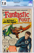 Silver Age (1956-1969):Superhero, Fantastic Four #10 (Marvel, 1963) CGC FN/VF 7.0 Off-white to white pages....