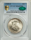1948-D 50C MS66 Full Bell Lines PCGS. CAC. PCGS Population: (250/10 and 45/0+). NGC Census: (47/3 and 5/0+). CDN: $300 W...