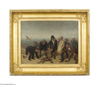 WILLIAM HOLBROOK BEARD (American 1824-1900) The Discovery of Adam, 1891 Oil on canvas 18in. x 24in. (sight size). Fram...