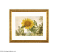 Paintings, JOHN HENRY HILL (American 1839-1922). Sunflower in a Landscape, 1895. Watercolor on paper. 14.25in. x 19.5in. (sight size). ...