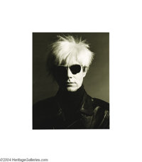 GREG GORMAN (b. 1949) Andy Warhol, Los Angeles 1986 Silver Print 6/25, signed and dated on verso by the photographer. 1...