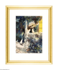 EVERETT SHINN, N.A. (1876-1953) Original Illustration, 1917 Watercolor on paper 19in. x 13.5in. (sight size) Signed