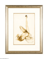 ALBERTO VARGAS (1896-1982) Original Pin-Up Art American Fantasy, 1953 Watercolor on paper 29in. x 20in. (sight size)