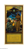 Original Illustration Art:Mainstream Illustration, Maxfield Parrish (1870-1966) Vintage Print (1923).. The LampSeller of Baghdad, for the 1923 Edison Mazda calendar. Mino...