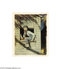 Original Illustration Art:Mainstream Illustration, Norman Percevel Rockwell (1894-1978) Numbered and Signed Print..Titled: Sneaking Out.. Print No. 125 of 200, nicely fra...