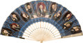 Political:3D & Other Display (pre-1896), James K. Polk: Beautiful Presidential Folding Fan....