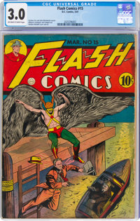 Flash Comics #15 (DC, 1941) CGC GD/VG 3.0 Off-white to white pages