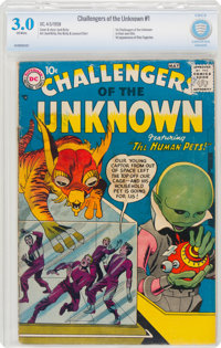 Challengers of the Unknown #1 (DC, 1958) CBCS GD/VG 3.0 Off-white pages