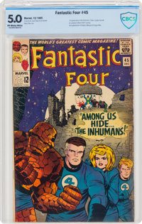 Fantastic Four #45 (Marvel, 1965) CBCS VG/FN 5.0 Off-white to white pages