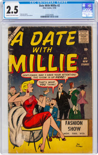 A Date With Millie #2 (Atlas/Marvel, 1956) CGC GD+ 2.5 Cream to off-white pages
