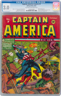Golden Age (1938-1955):Superhero, Captain America Comics #7 (Timely, 1941) CGC GD/VG 3.0 Light tan to off-white pages....
