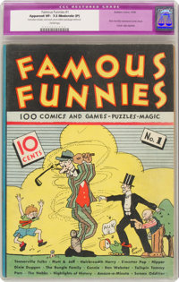 Famous Funnies #1 (Eastern Color, 1934) CGC Apparent VF- 7.5 Moderate (P) Cream pages